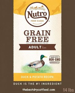 NUTRO Grain Free Dry Cat Food, Duck & Potato Recipe