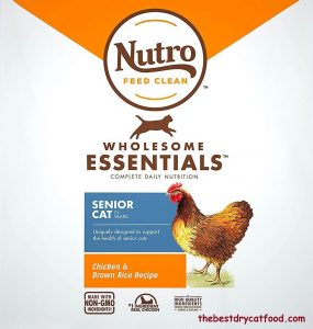Nutro Wholesome Essentials Indoor and Sensitive Digestion Senior Dry Cat Food