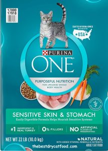 Purina ONE Sensitive Stomach & Skin, Natural Senior Dry Cat Food