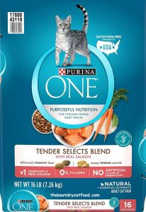 Purina One Tender Selects Blend High Protein Dry Cat Food