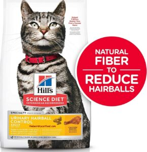 Hill's Science Diet Dry Cat Food for Urinary Hairball Control