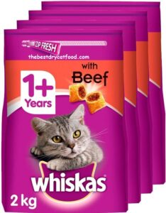 Whiskas Dry Cat Food Beef Flavor Recent Reviews